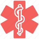 clinic, hospital, life, pharmacy, snake, star of life icon