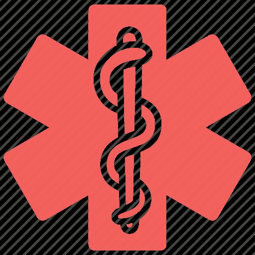 clinic, hospital, life, pharmacy, snake, star of life icon