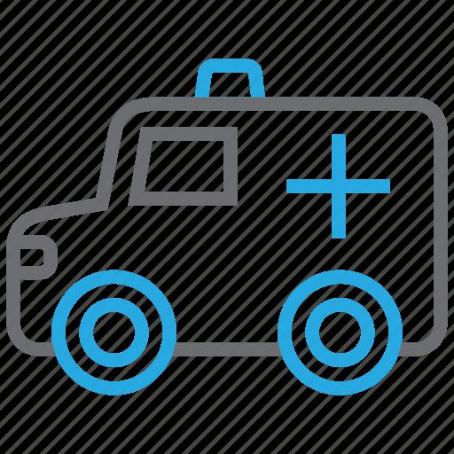 ambulance, emergency, hospital, rescue, transport icon