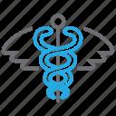 caduceus, medical, pharmacy, snake icon