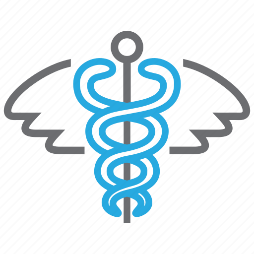 caduceus, medical, pharmacy, snake icon