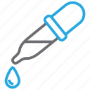 chemical, dropper, experiment, pipette icon