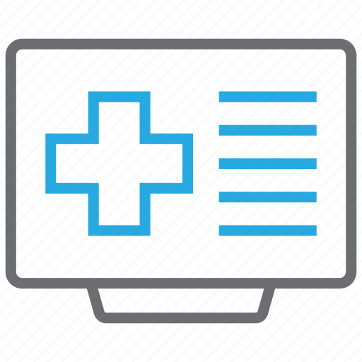 health, healthcare, hospital, internet, news, online icon