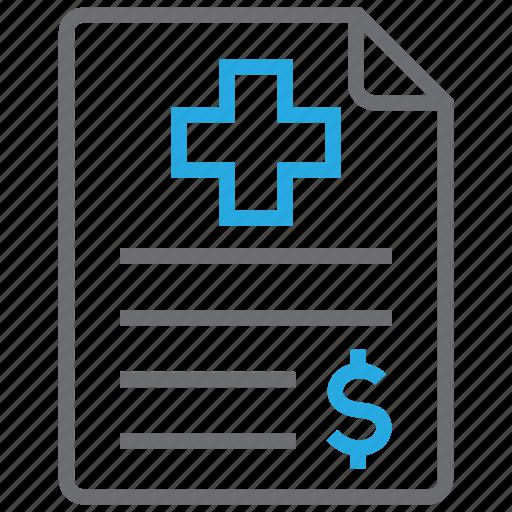 contract, health, healthcare, insurance icon