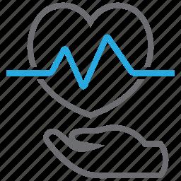 beat, disease, ecg, heart, prevention icon