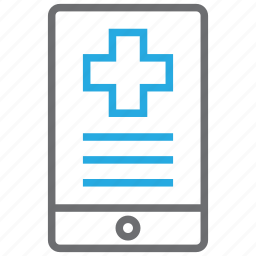 health, internet, mobile, online icon