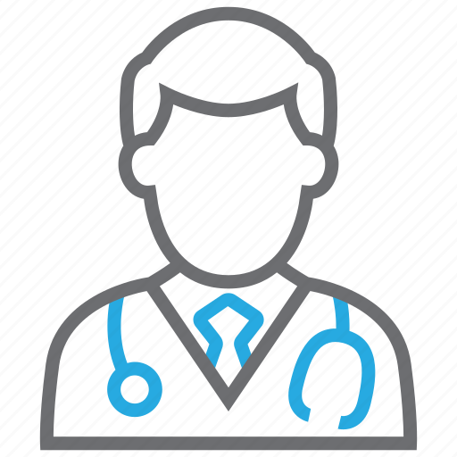 doctor, male, physician, stethoscope icon