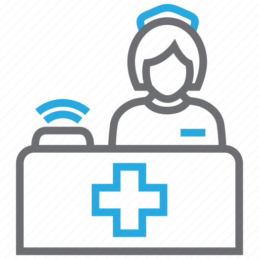 emergency, medical, reception, services, support icon