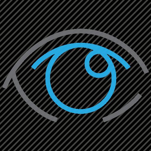eye, ophthalmology, optical, vision icon