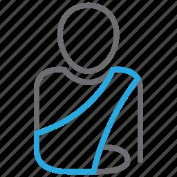 arm, bone, broken, injury, orthopedics, patient icon