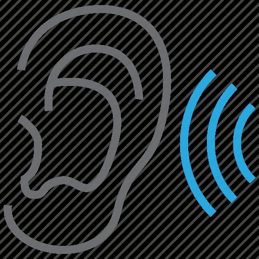 ear, hear, otology, sound icon