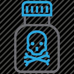 danger, drug, poison, toxic icon