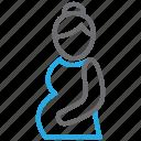care, embryo, mother, prenatal icon