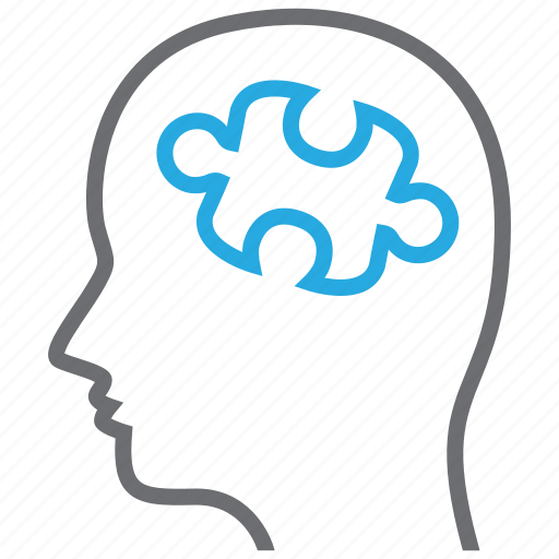 psychiatry, puzzle, smart, solution icon