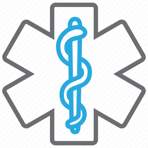 hospital, life, medical, star, star of life icon