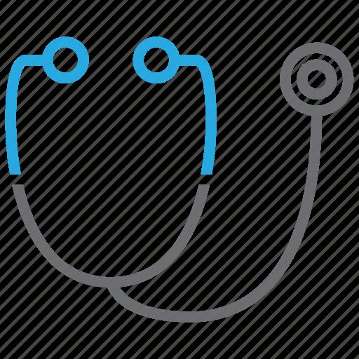 phonendoscope, physician, stethoscope icon