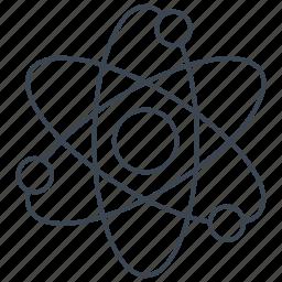 atom, electron, nuclear, physics icon