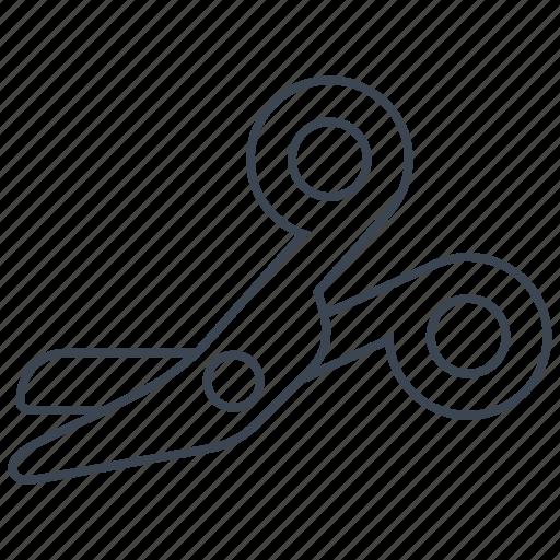 bandage, scissors icon