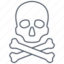 creepy, crossbones, scary, skull icon