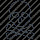 crossbones, creepy, scary, skull