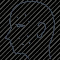 dermal, dermatology, facial icon
