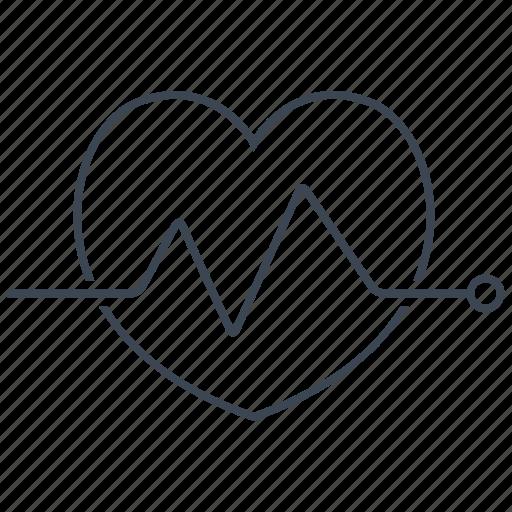 ecg, electrocardiogram, electrocardiography, rate icon
