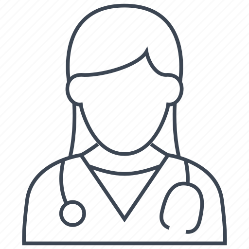 doctor, female, hospital icon