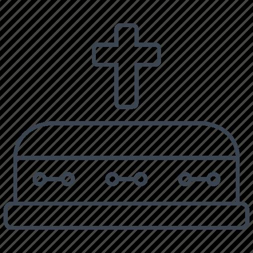 casket, death, funeral icon
