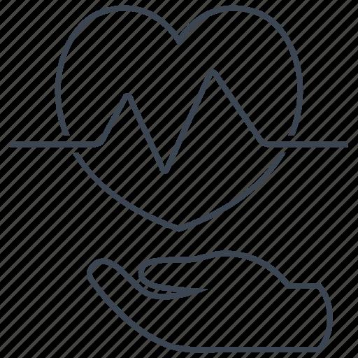 disease, heart, pulse icon