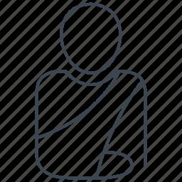 arm, orthopedic, orthopedics, patient icon