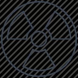 radiation, radioactive, radioactivity icon