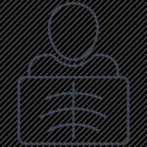 radiology, radioscopy icon
