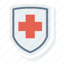 health, insurance, medical, protection, security, shield icon