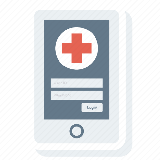 healthcare, medical, mobile icon
