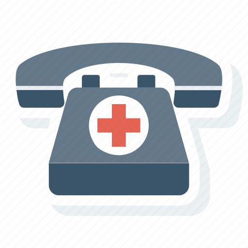 ambulance, call, hospital, medical, phone, rescue icon