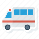 ambulance, car, cross, emergency, medical, transportation, van icon