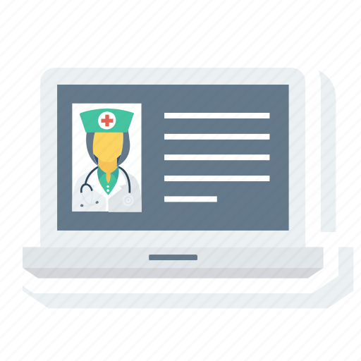 assistant, avatar, doctor, laptop, profile, user icon