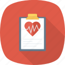 report, heart, medical, health, monitor icon