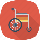 accessibility, disability, disabled, handicap, paralyze, patient, wheelchair icon