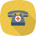 ambulance, call, hospital, medical, phone, rescue icon