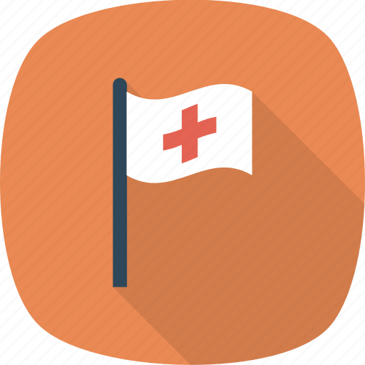 assistance, flag, medical icon