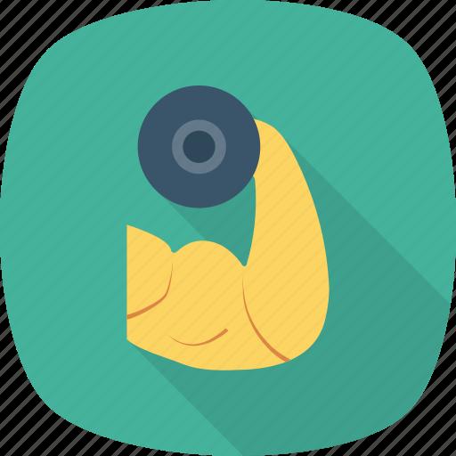 bodybuilding, exercise, fitness, gym, health, training icon