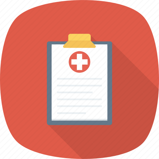 clinical, health, medical, paper, record, report icon