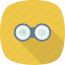 education, eye, glasses, lens icon
