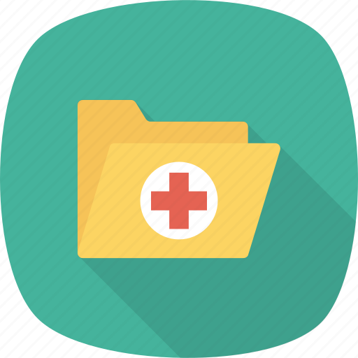 folder, health, healthcare, hospital, medical, records icon