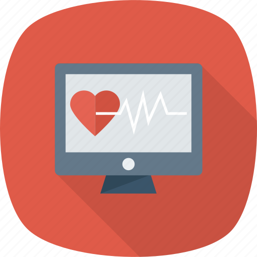 heart, hurt, love, monitor, pulse, rate icon