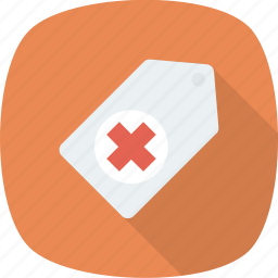 health, medical, medicine, note, tag icon