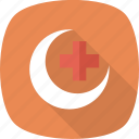 cross, doctor, health, healthcare, medical, moon icon