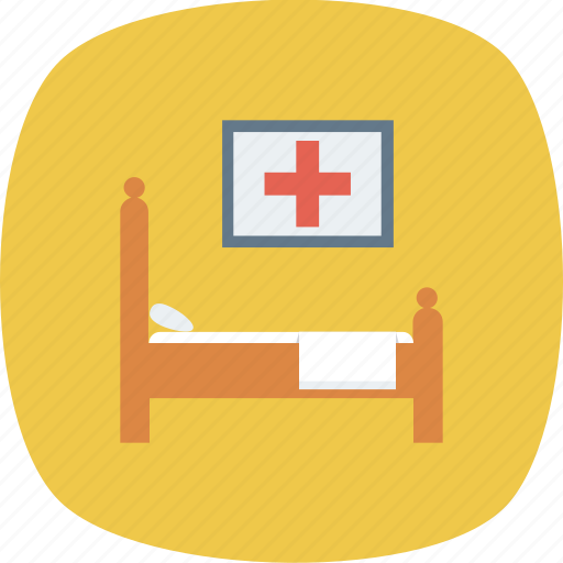 bed, care, health, hospital, medical icon