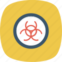 biohazard, biological, danger, hazard, hazardous, infectious, poison icon